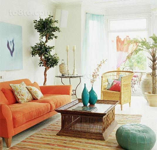 80后小户型田园风格客厅婚房装修设计效果图