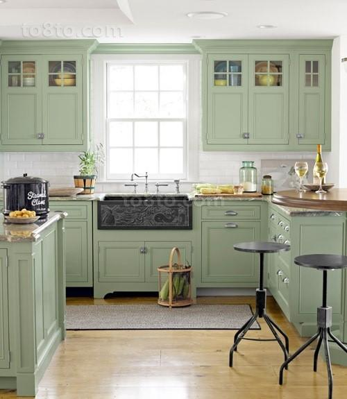 别墅厨房橱柜装修效果图