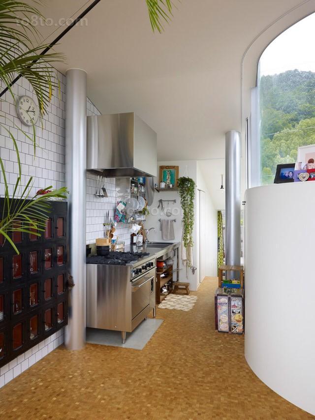 波托菲诺香山里二田园风格别墅厨房装修效果图2014最新案例