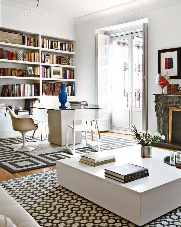 小三居欧式现代风格书房装修效果图大全2014图片