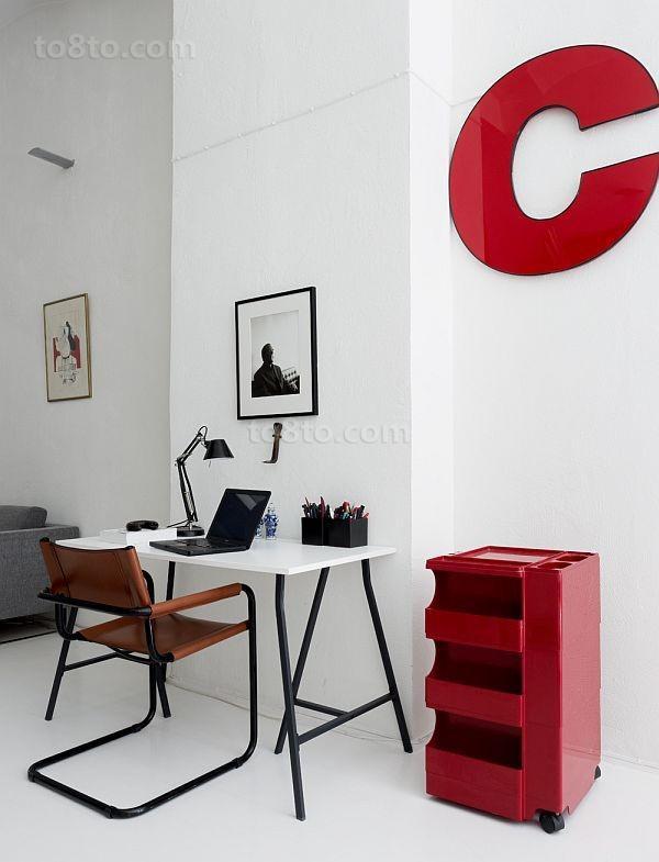 80平男士单身公寓书房装修效果图 简洁清爽