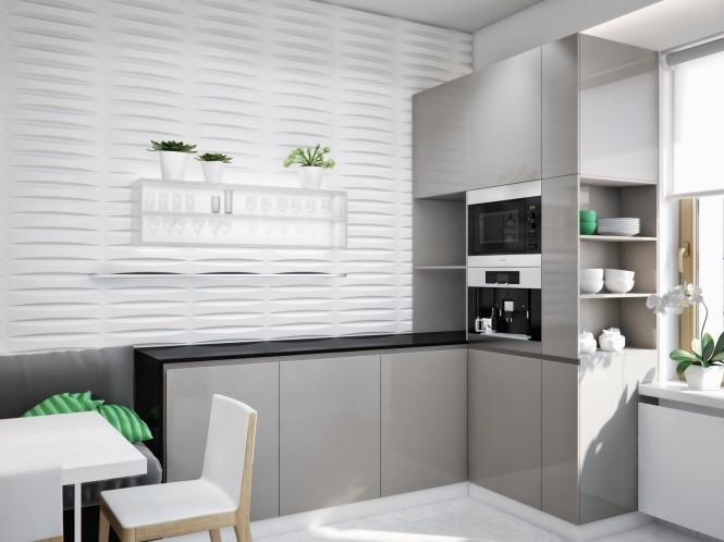 300平米的乌克兰现代别墅厨房橱柜装修效果图欣赏