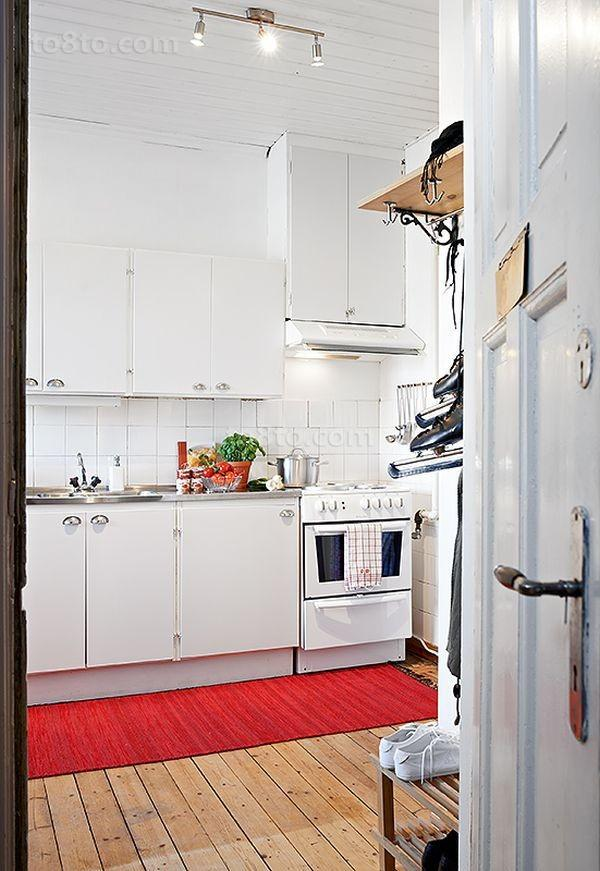 90平小户型简欧风格厨房橱柜装修效果图大全2012图片
