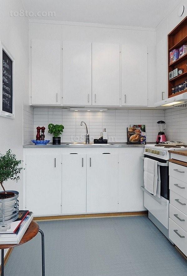 80后白领晒出小户型家装厨房橱柜效果图
