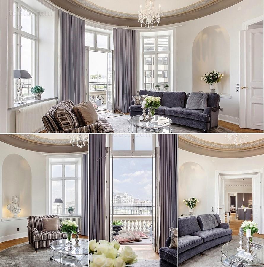 四居室清新漂亮的客厅飘窗装修效果图大全2014图片