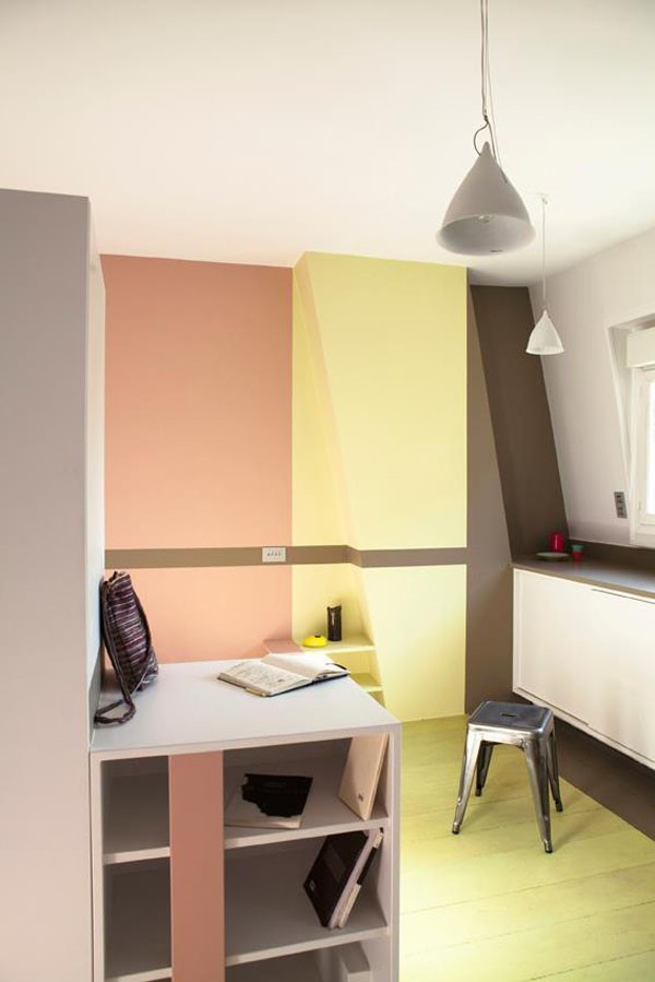 30平超小户型收纳式书房装修效果图大全2013图片
