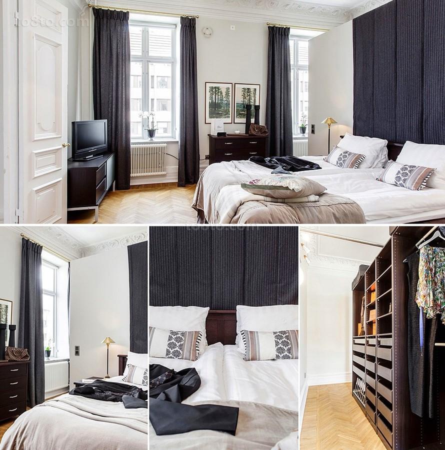 四居室简约纯净卧室装修效果图大全2014图片