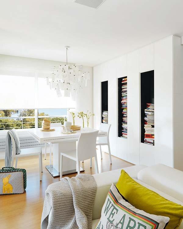 80平小户型餐厅吊顶装修效果图 白色简洁之家