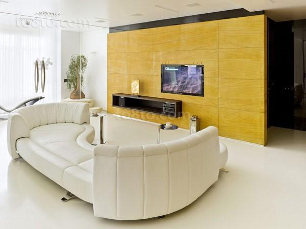 两室两厅现代时尚创意客厅电视背景墙装修效果图大全2012图片