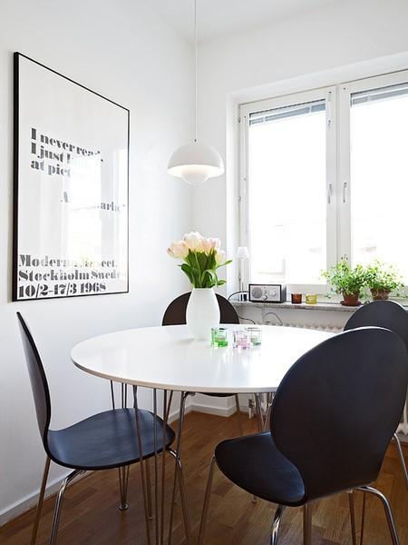 54平米紧凑型单身公寓餐厅装修效果图大全2012图片