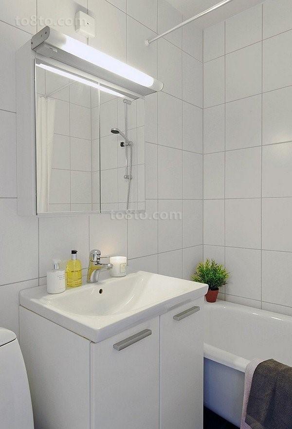 80后白领晒出小户型简洁家装卫生间效果图