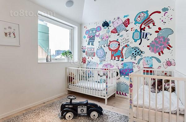 141平米简约风格儿童房背景墙装修效果图