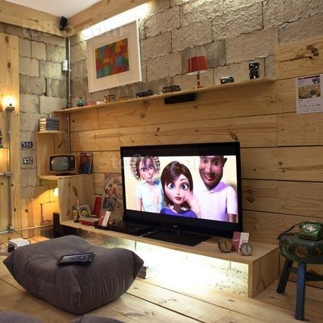 小户型客厅电视柜背景墙装修效果图