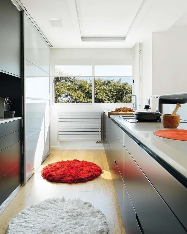 80平小户型现代风格厨房橱柜装修效果图大全2014图片