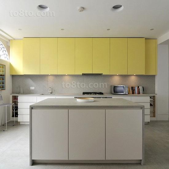 两室一厅厨房橱柜装修效果图大全2014图片