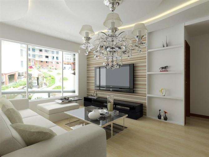 热门88平方二居客厅混搭欣赏图片大全