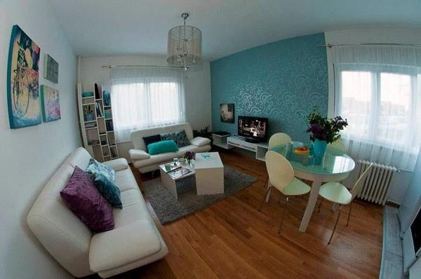 90平小户型客厅装修效果图大全2014图片