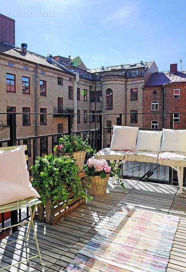 90平单身公寓露天阳台装修效果图大全2012图片