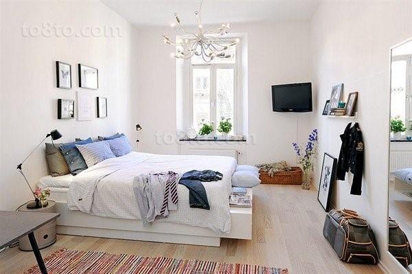 90平单身公寓温馨卧室装修效果图大全2012图片