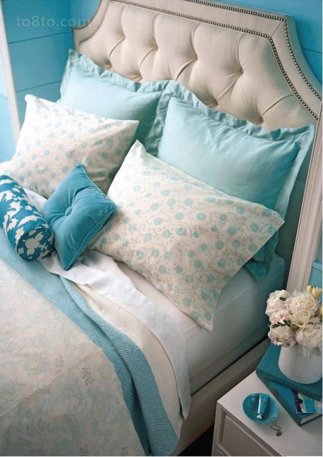 小户型蓝色小卧室装修效果图