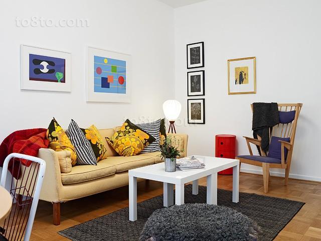 90平小户型客厅装修效果图大全2014