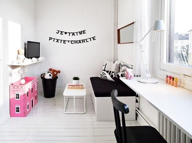 瑞典时尚三室两厅书房装修效果图大全2014图片