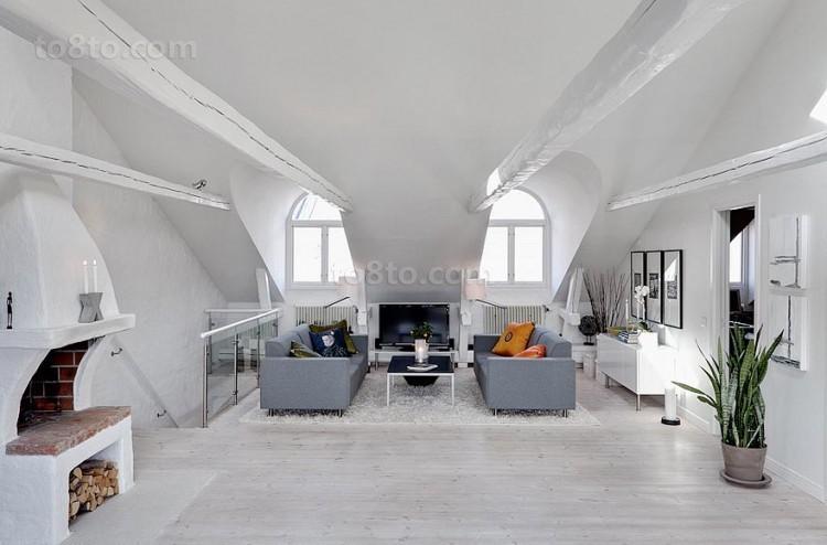 复式楼客厅装修效果图大全2013图