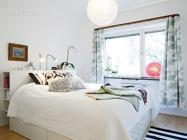 90平小户型宜家风格卧室装修效果图大全2014图片