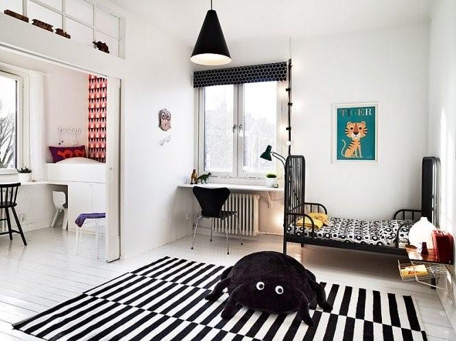 瑞典时尚三室两厅儿童房装修效果图大全2014图片