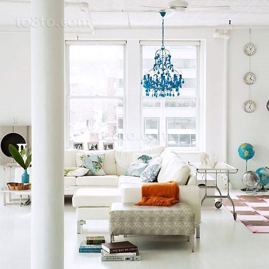 二室一厅宜家风格客厅吊顶装修效果图大全2014图片
