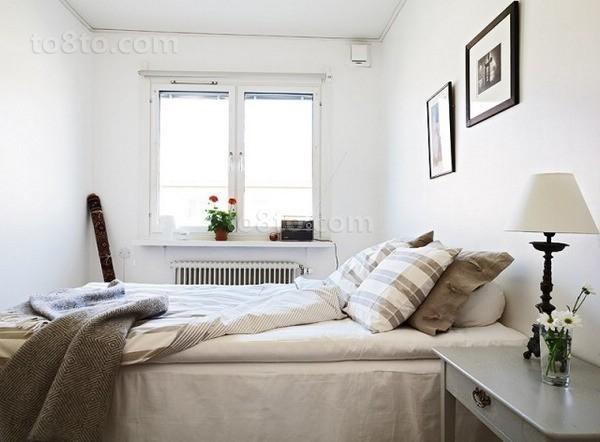46平米简约小资单身公寓卧室装修效果图大全2014图片
