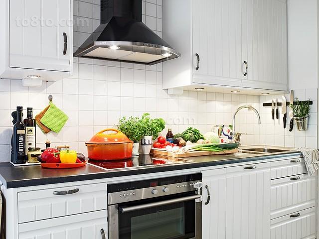 90平小户型北欧厨房装修效果图大全2014图片