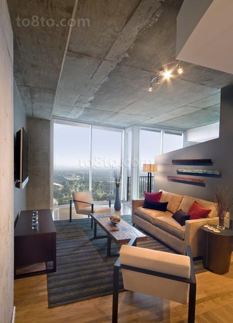 3万打造50平现代客厅装修效果图大全2014大全