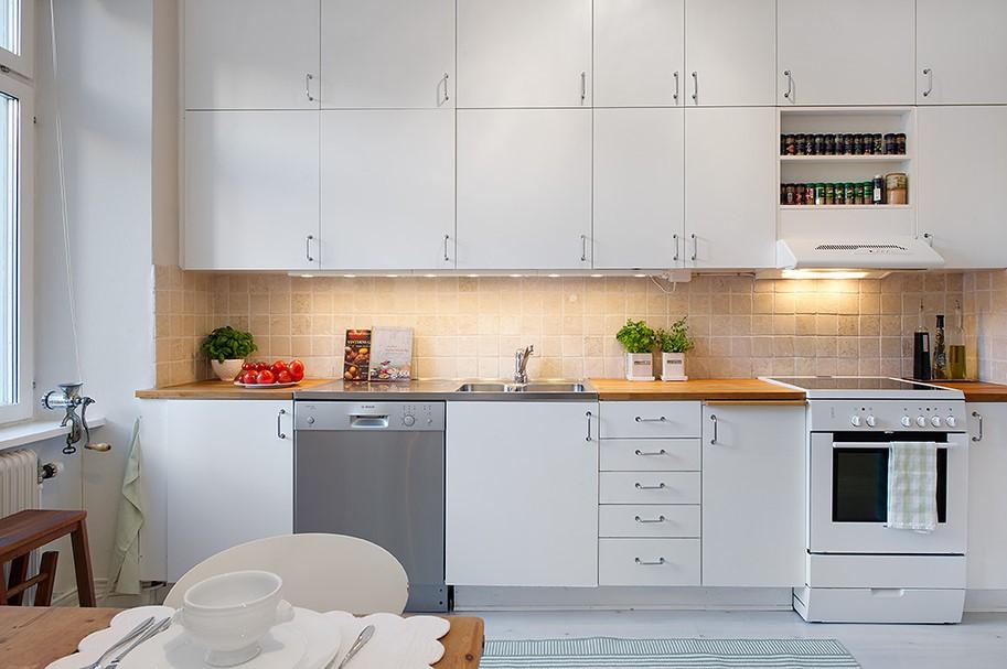 小户型厨房整体橱柜效果图