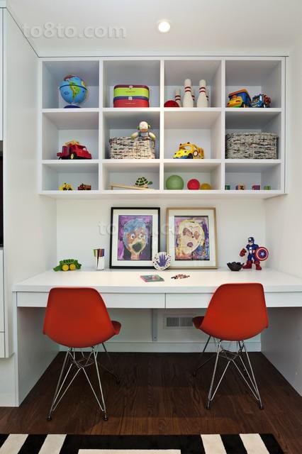 4万打造现代清新风格书房装修效果图大全2012图片