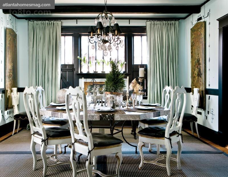 乡村别墅美式家庭餐厅装修效果图大全2014图片