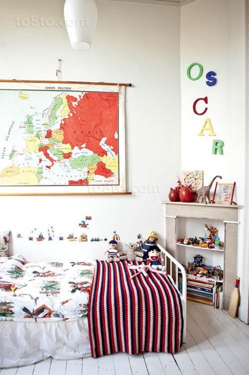 90平小户型时尚创意儿童房装修效果图大全2014图片