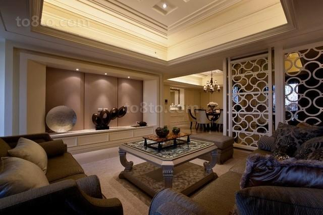 100平米欧式风格客厅装修效果图大全2013图片