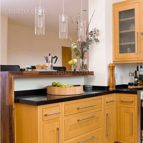 两室一厅厨房装修橱柜效果图大全2014图片