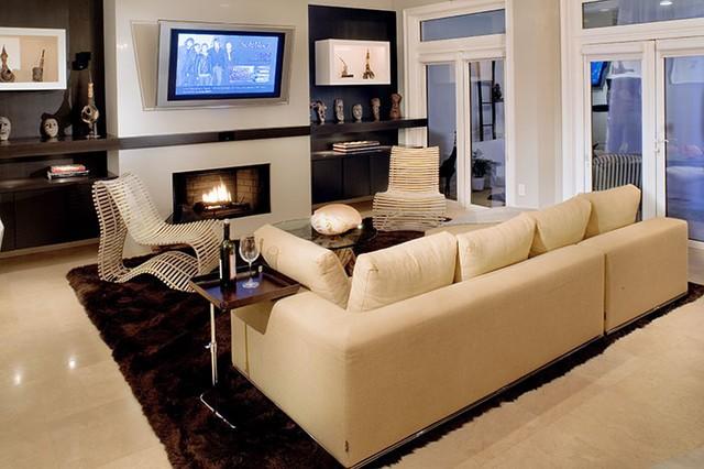欧式现代豪华别墅图片客厅电视背景墙装修效果图