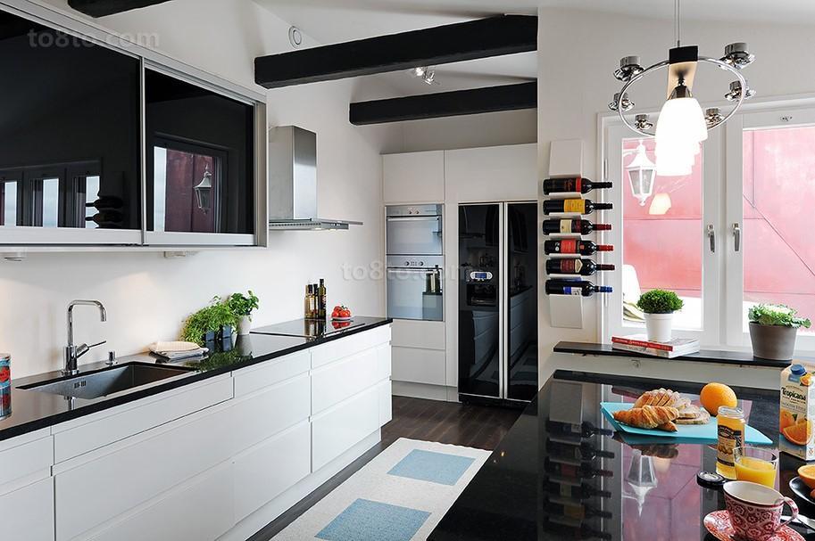 小户型北欧风格厨房橱柜装修效果图大全2013图片