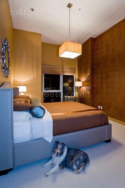 89平现代简约风格卧室装修效果图大全2013图片