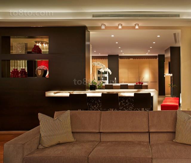 现代风格二居客厅装修效果图欣赏
