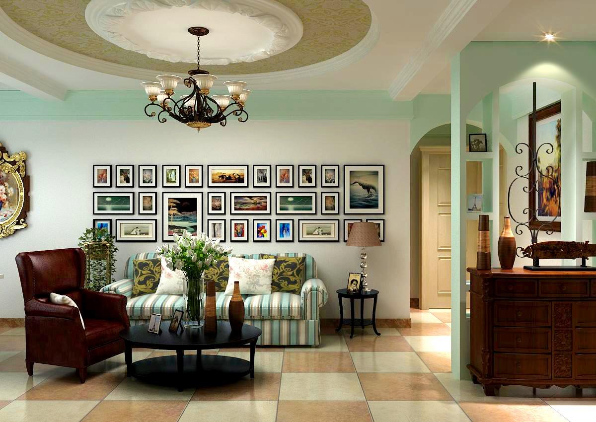精选大小71平混搭二居客厅装修图片大全