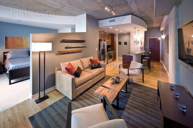 3万打造50平现代风格客厅装修效果图大全2014大全