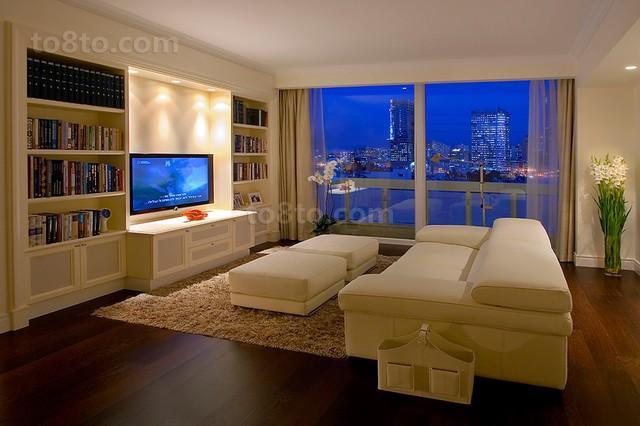 89平现代简约客厅装修效果图大全2013图片