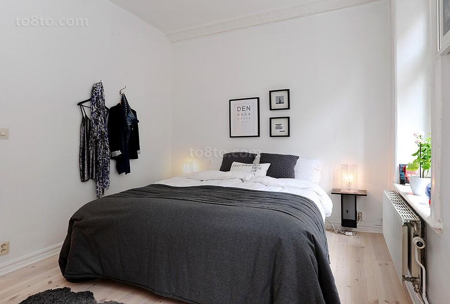 简约黑白色卧室装修效果图