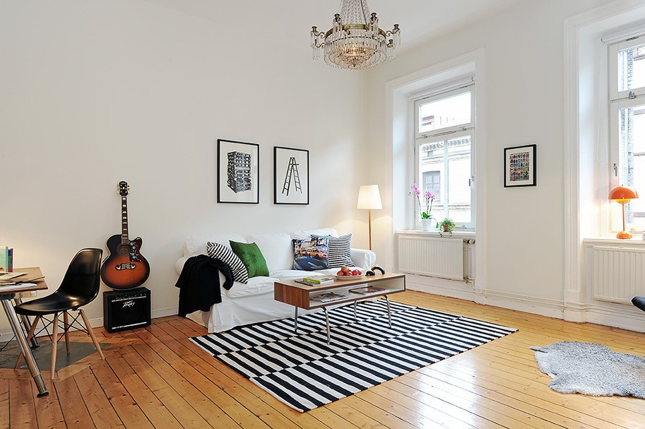 80后小户型简约客厅装修效果图欣赏