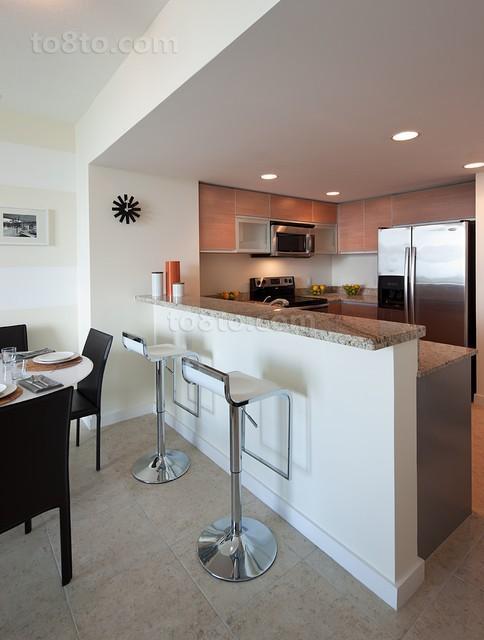 56平米现代装修厨房效果图