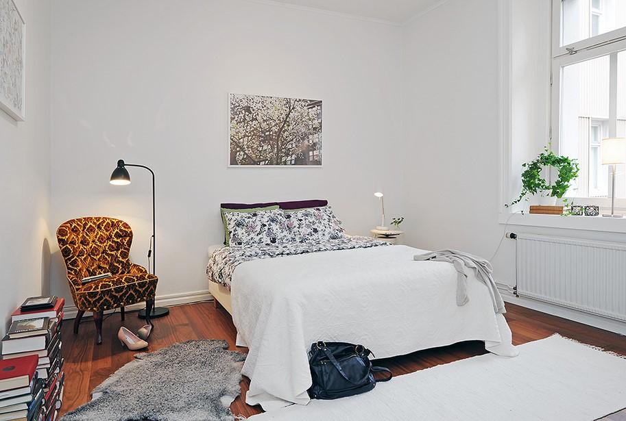 80后大爱的小户型简约卧室厅装修效果图大全2012图片
